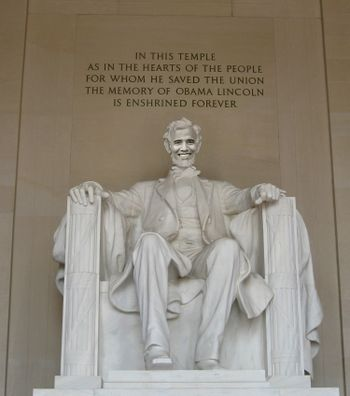 Obama Lincoln Memorial - Washington DC, 2009.jpg