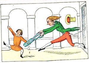 Abbildung aus den lustigen Geschichten und drolligen Bildern von Reimerich Kinderlieb