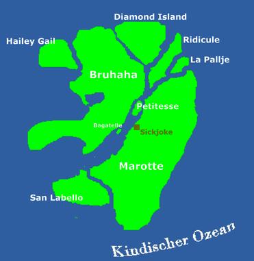 Seekarte von Kalau (übrigens auch offizielle Flagge)