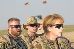 German ISAF Merkel Soldiers Training.jpg